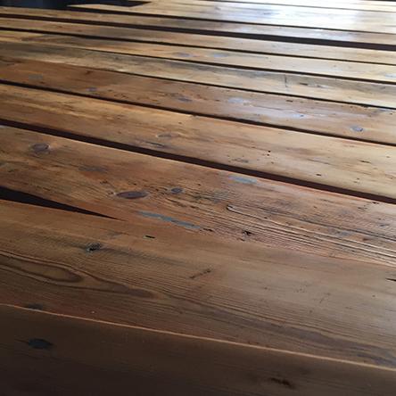 Reclaimed hand adzed Georgian Pine floorboards