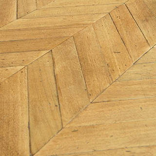 one-off reclaimed floor defined by the wood selection, texture and condition of the original reclaimed board or block