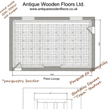 Antique hand-made floors using 150-300 year old timbers. Carefully sourced, designed and laid to create a timeworn floor of sumptuous beauty