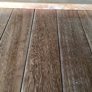 Reclaimed hardwood tongue and groove strip flooring allows you to create a unique floor from rare or exotic species