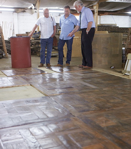 decide on the pattern and layout of your reclaimed floor, in our spacious Layout Area