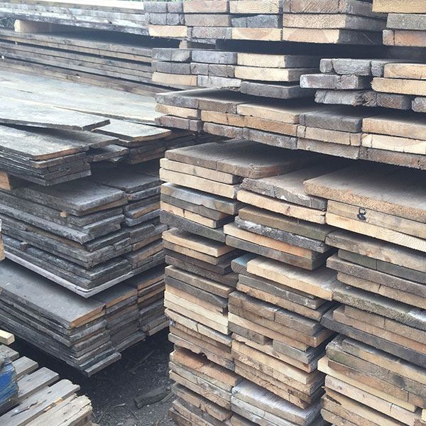 Stacks of original Georgian floorboards and London boards reclaimed from Bow Street magistrates court are just part of our huge stockholding
